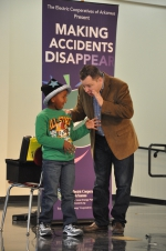 "Magician Scott Davis presents his ""Making Accidents Disappear"" electrical safety show."