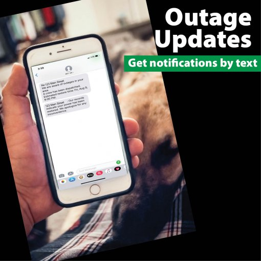 Stay informed with outage alerts